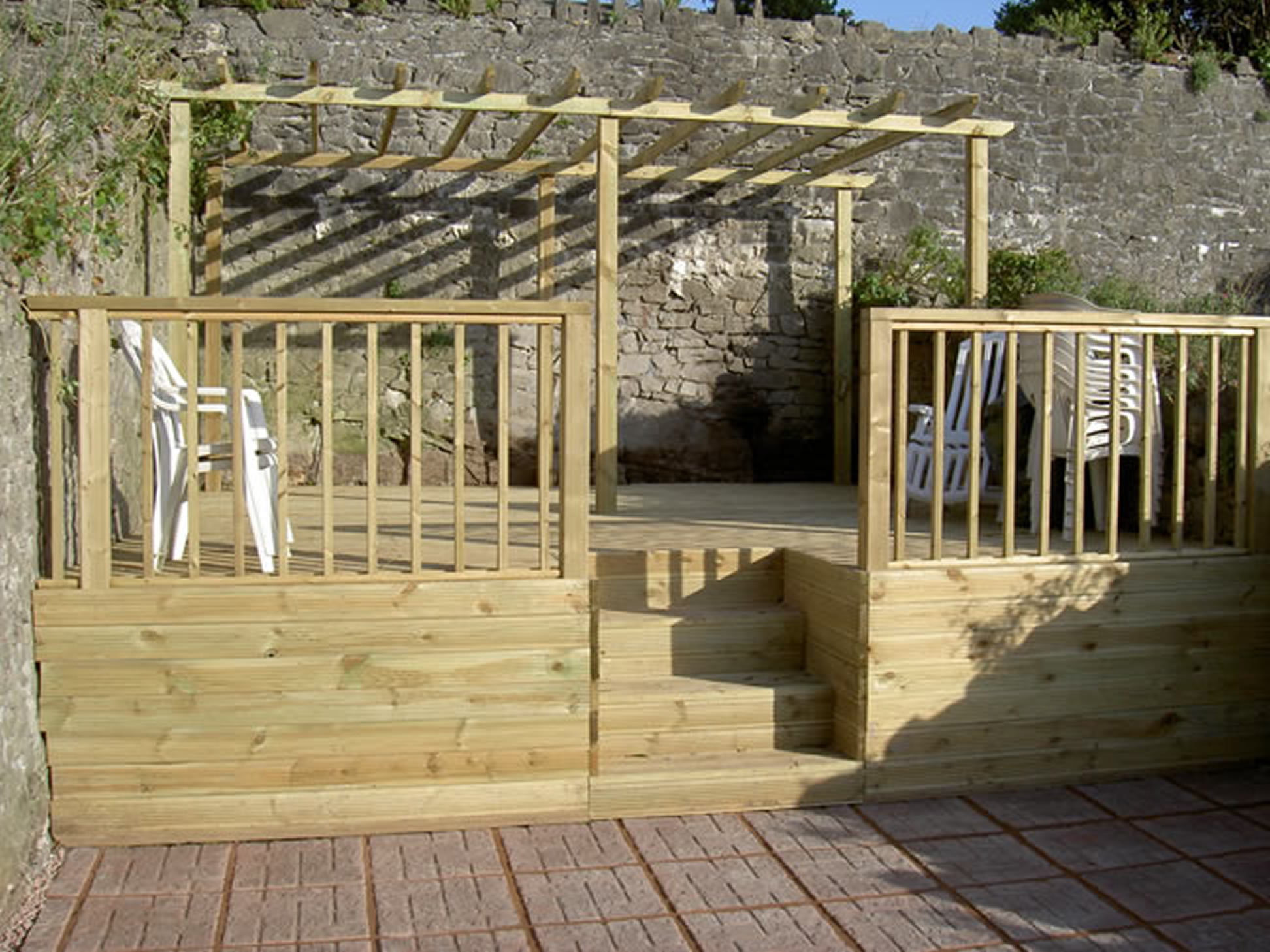 Decking fencing pergolas c01 pa sloan garden for Garden decking designs pictures