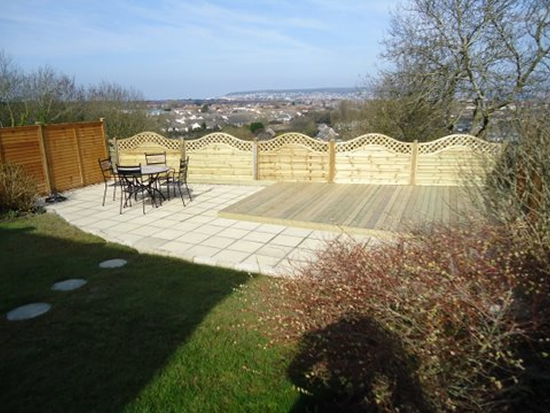 Decking fencing pergolas n01 pa sloan garden for Garden decking and fencing
